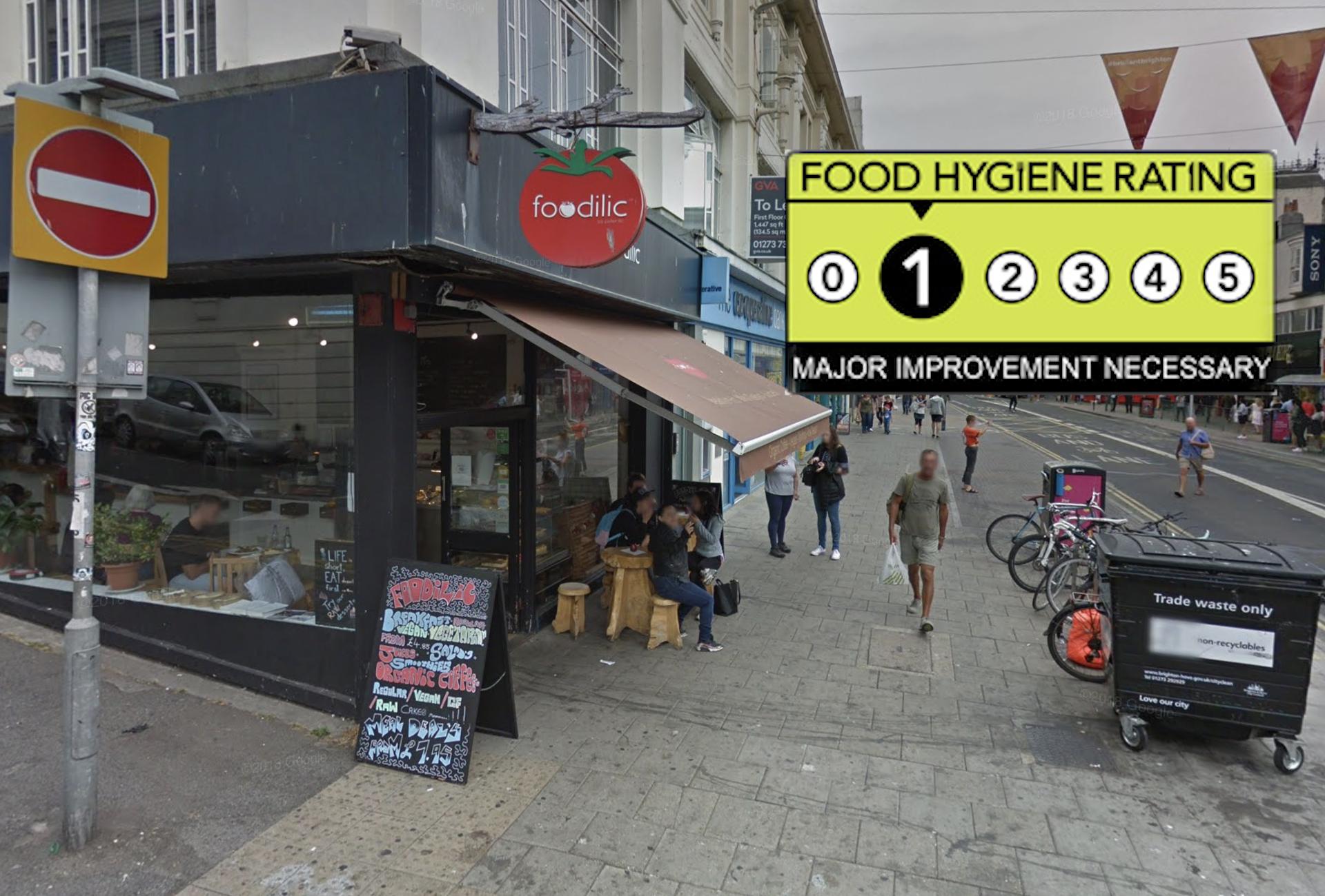 Foodilic Food Hygiene Rating 1 Major Improvement