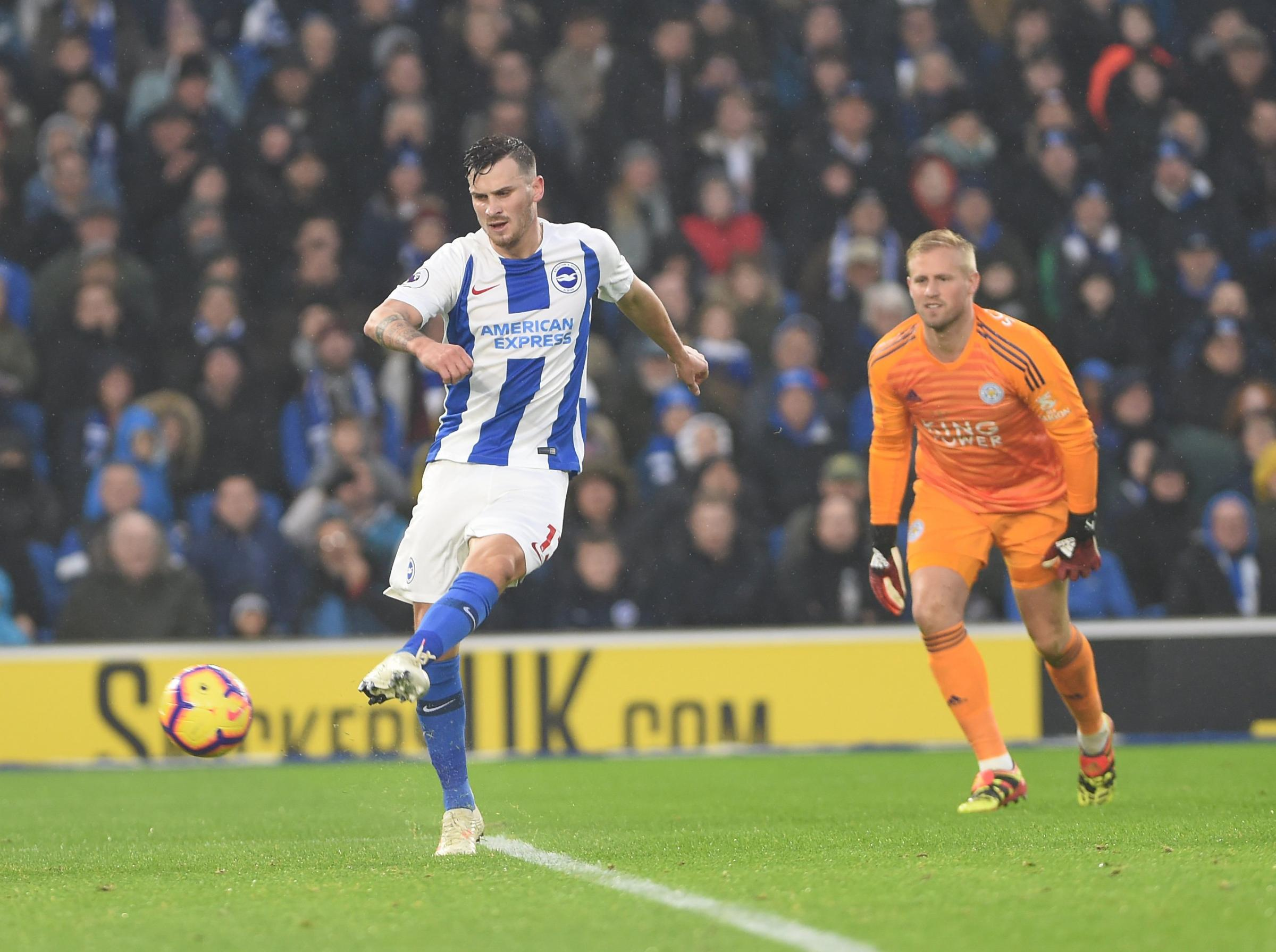 Pascal Gross had a goal disallowed on his return against Leicester