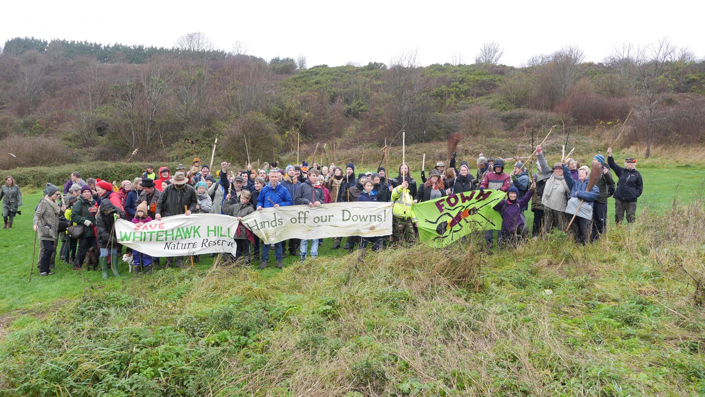 Whitehawk residents and environmentalists stand together to protect Whitehawk Hill