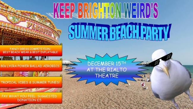 summer themed party organised for december by keep brighton weird