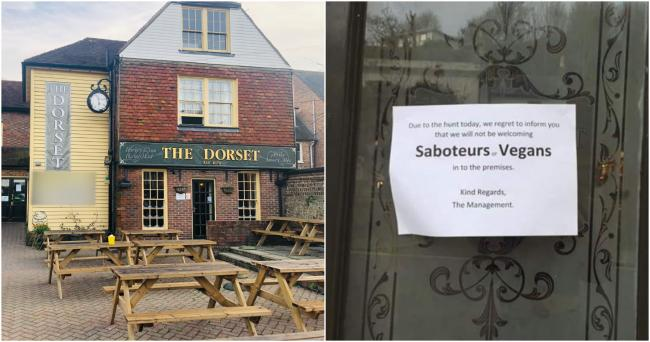 NO VEGANS: Pub apologises for poster banning vegans from the premises