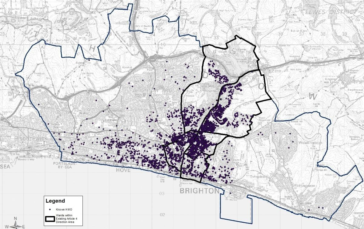 Revealed Maps Show The Density Of Shared Houses In Brighton And