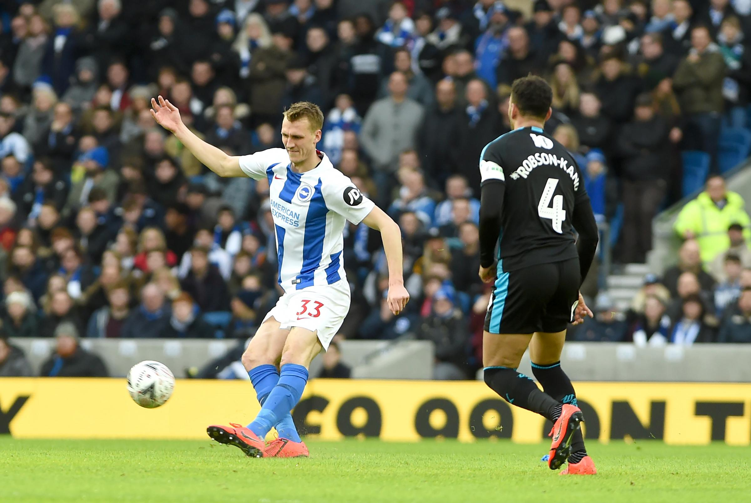 Burn urges Albion to treat Derby like they are Prem rivals