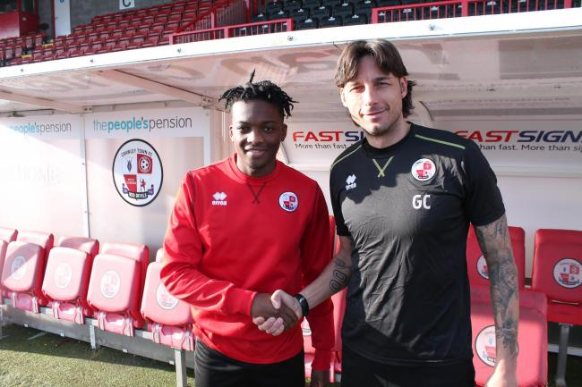 Matty Willock with boss Gabriele Cioffi after signing on loan