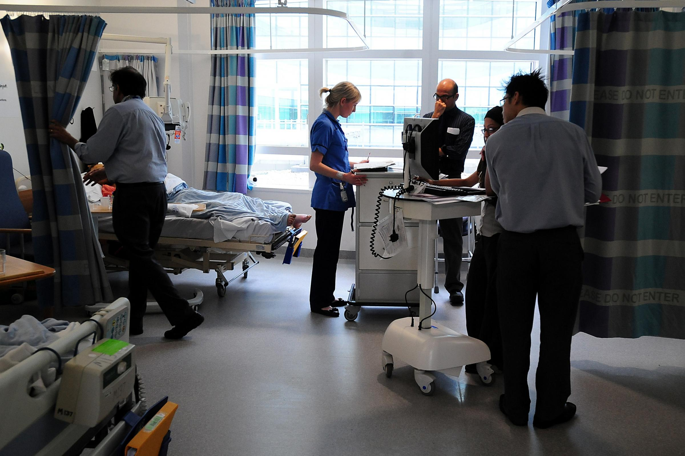 Staff in a hospital ward