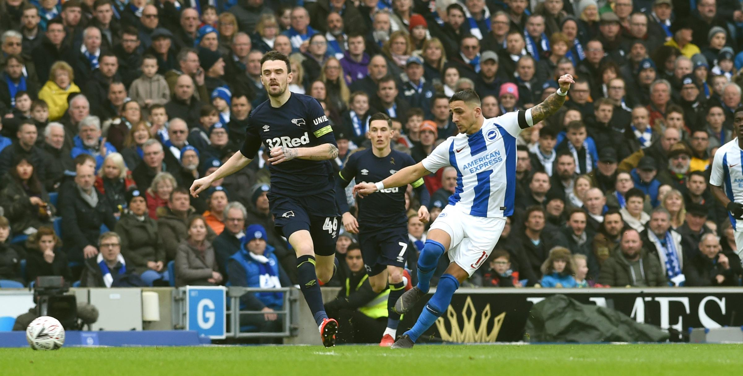 Knockaert, Locadia on target - how Albion  beat Derby at the Amex
