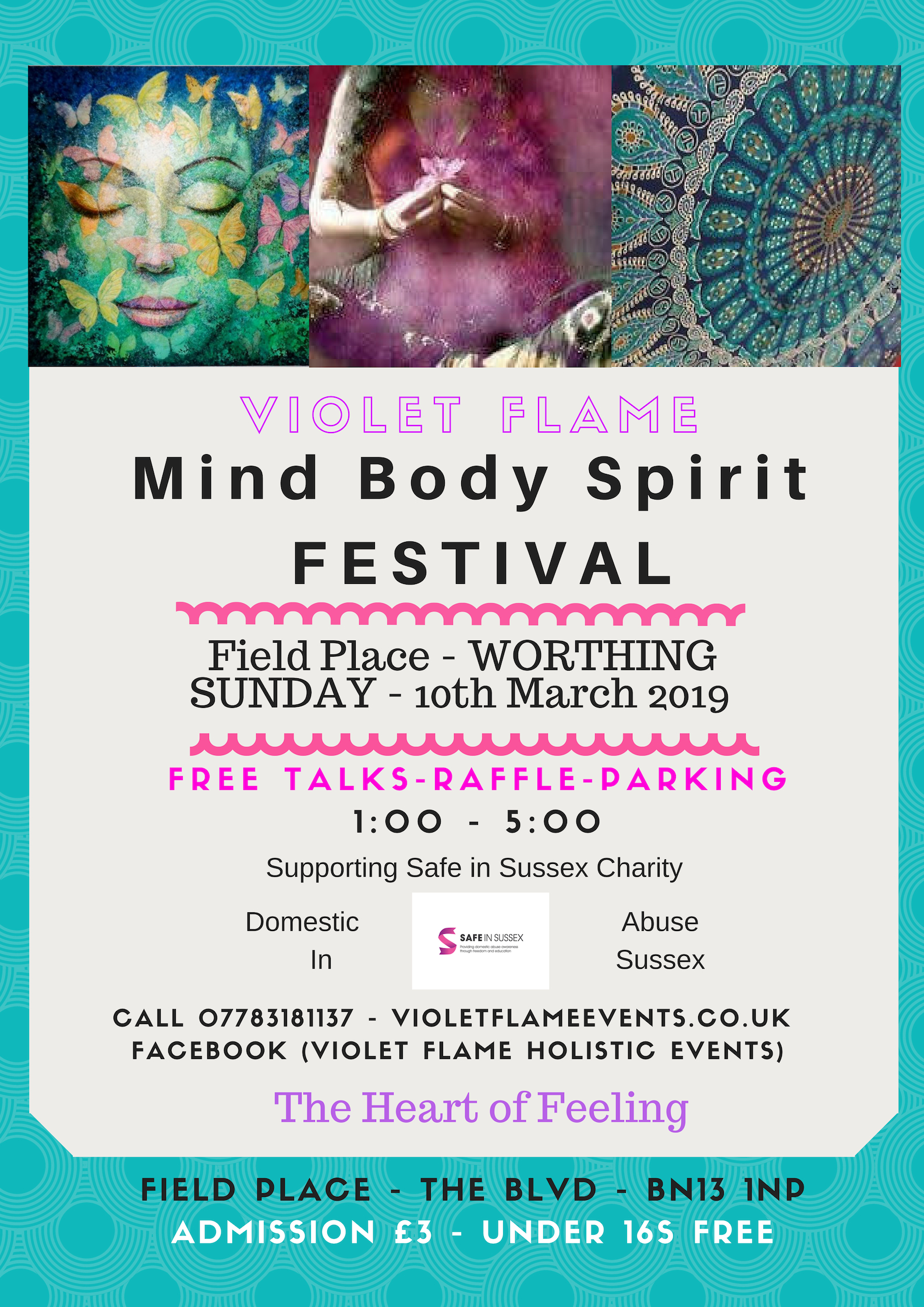 Mind Body Spirit Fayre Field Place Worthing