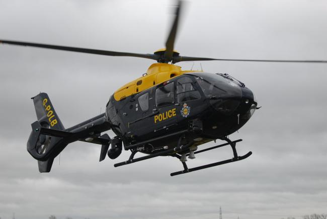 A police helicopter took part in the pursuit near Wetherby