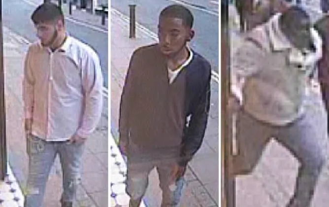 Police have issued CCTV images of three suspects wanted in connection with a Rolex robbery in Brighton