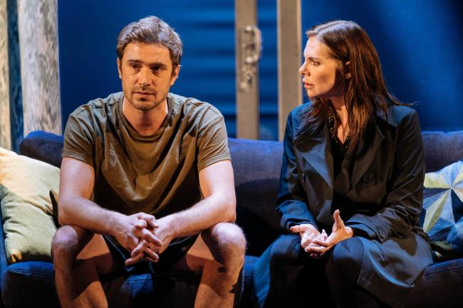 Oliver Farnworth and Samantha Womack in The Girl on the Train