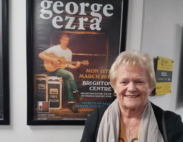 Beryl Reeves outside the George Ezra show
