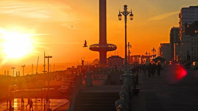 Brighton is set to see temperatures up to 21C over Easter weekend