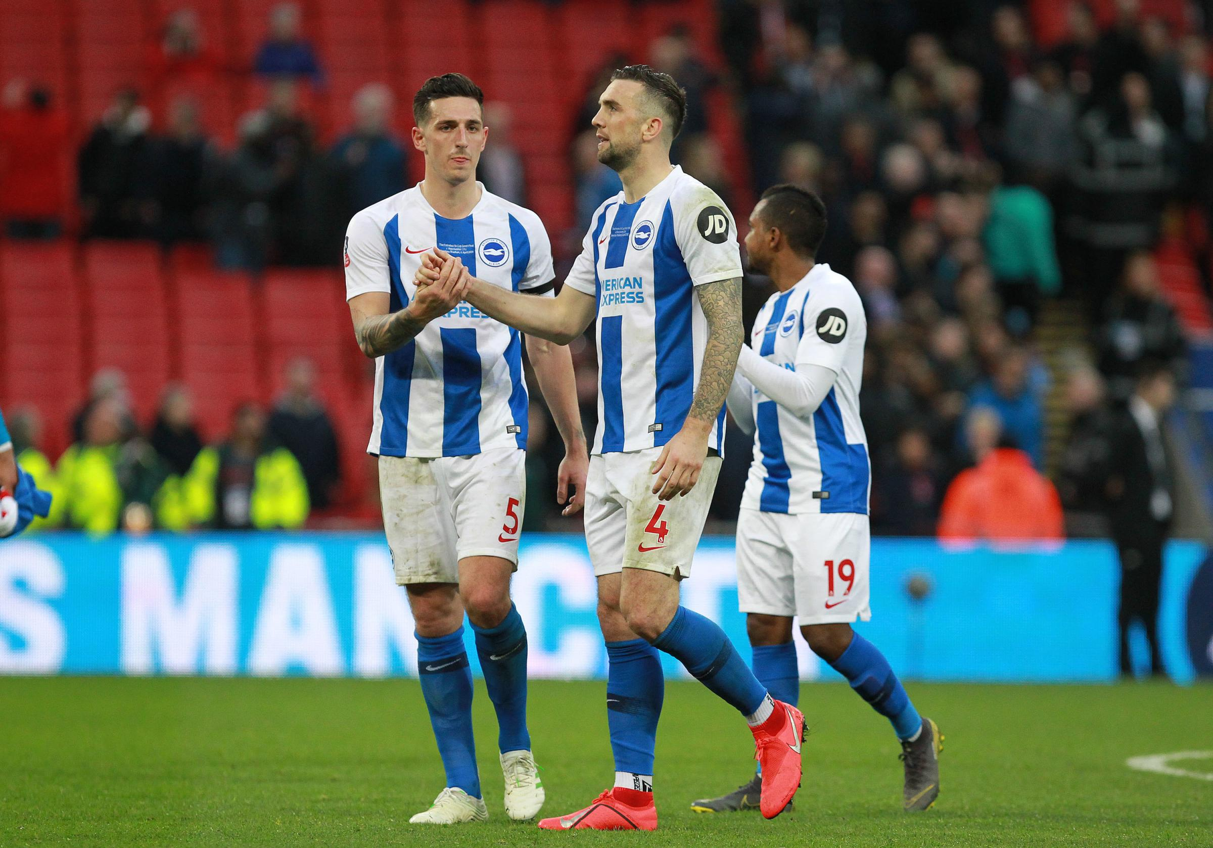 "Lewis Dunk and defensive partner Shane Duffy have been hailed as ""totally immense"""