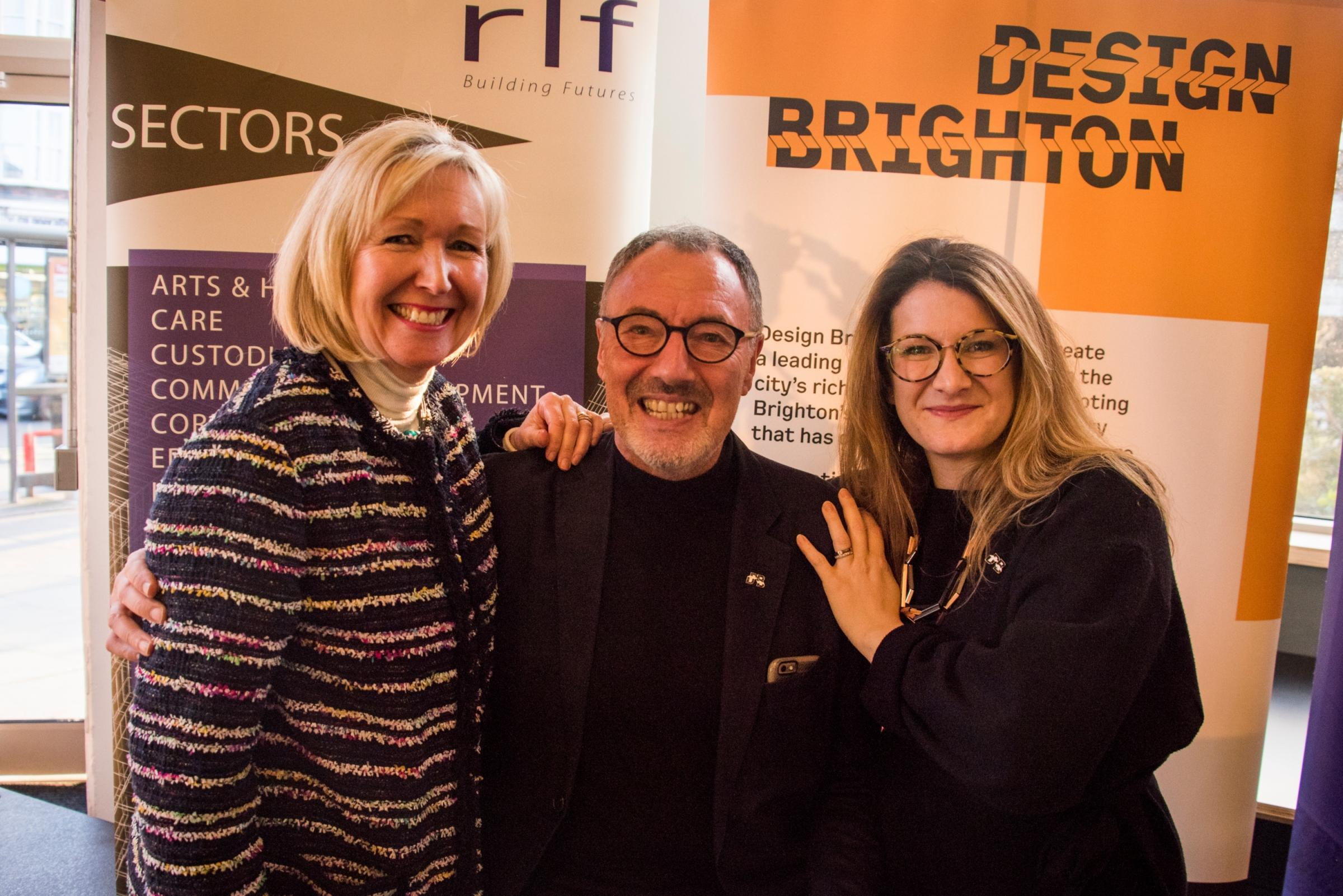 Sally-Anne Murray, John Cowell, and Sophie Law-Smith from Design Brighton