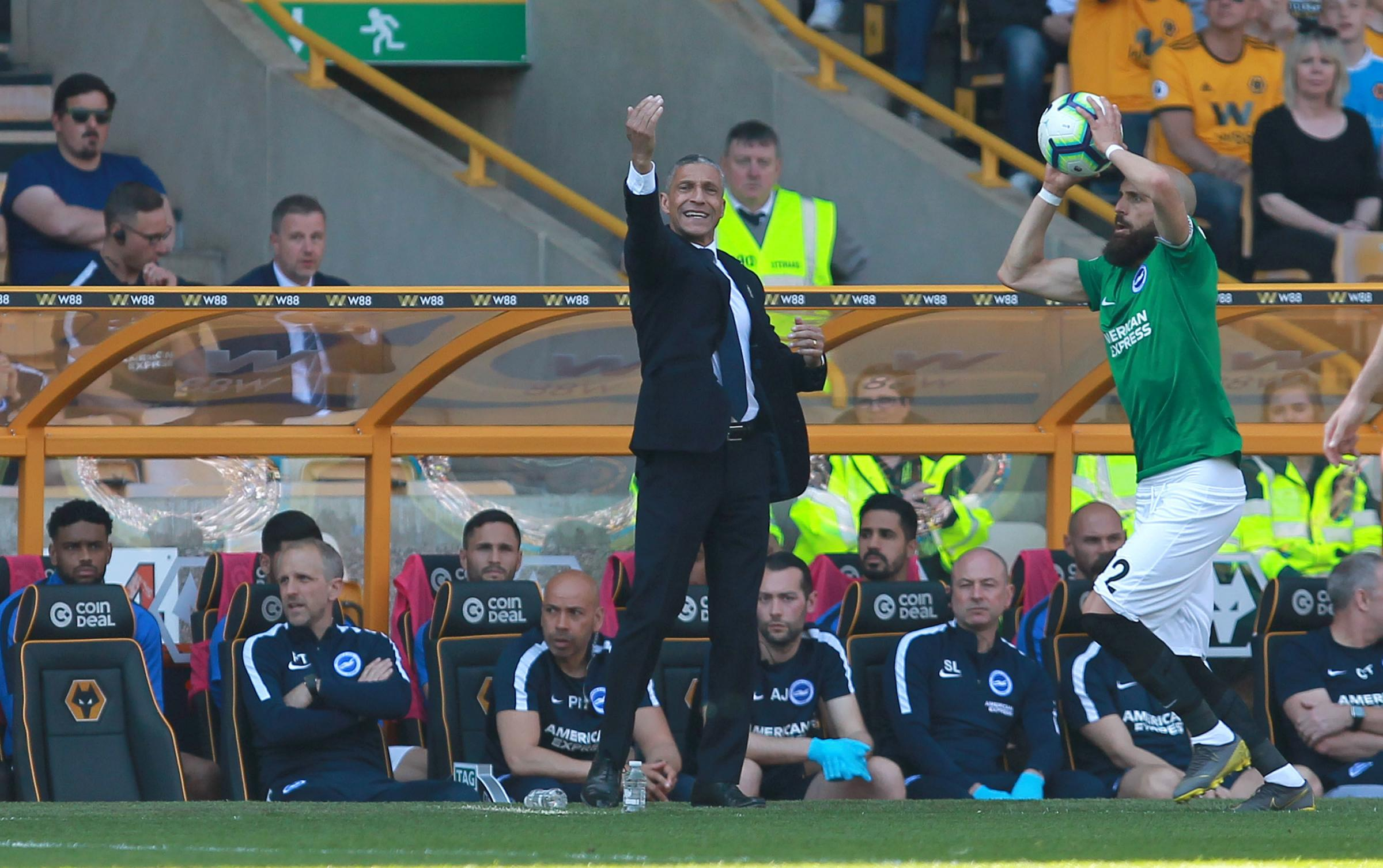 Chris Hughton says Albion will have to fight their way to safety rather than play their way out of trouble. Picture: Richard Parkes.