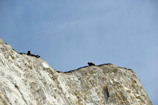 Pictures: Man holds boys close to Seven Sisters cliff edge | The Argus