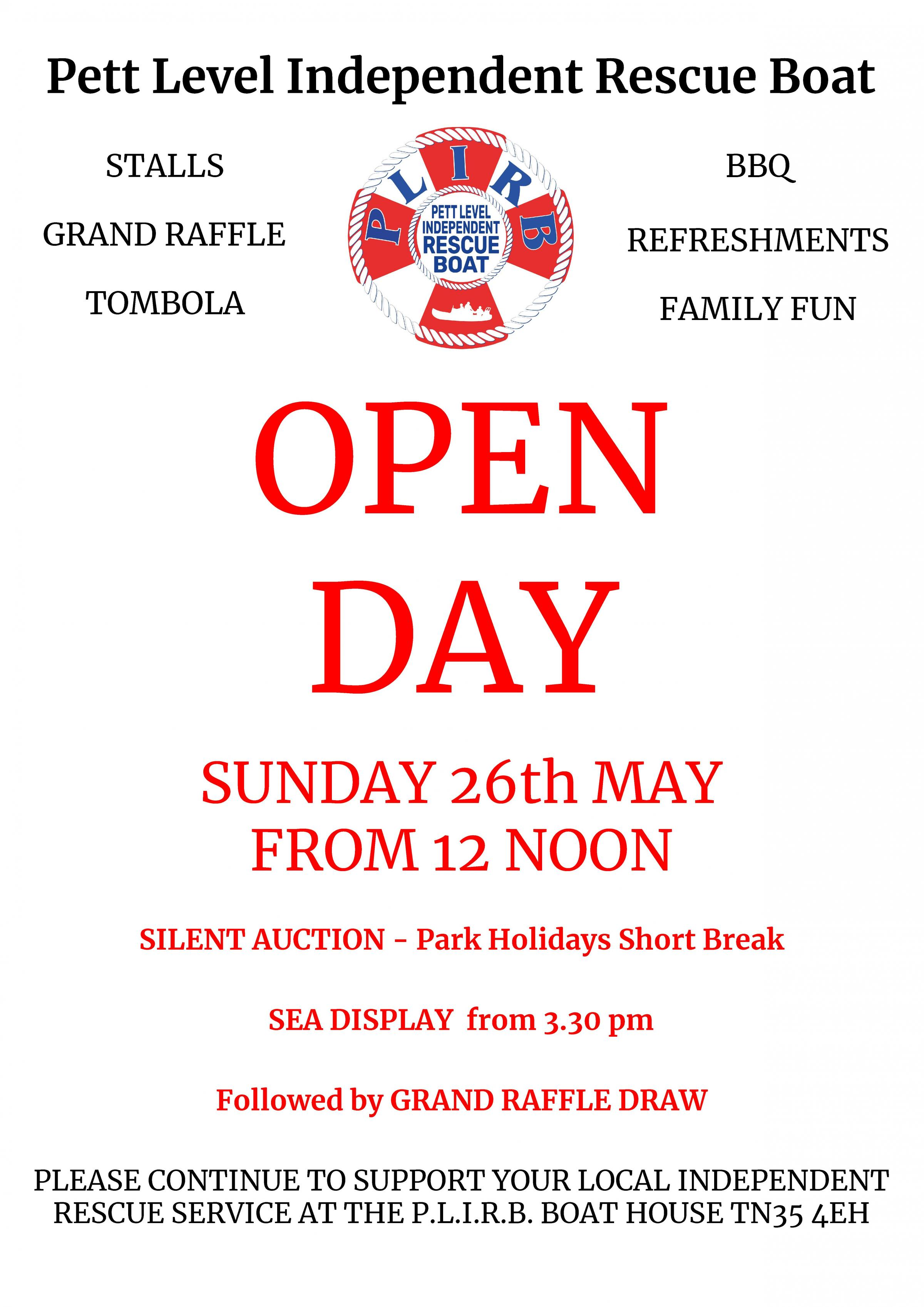 Pett Level Independent Rescue Boat Open Day Fundraiser