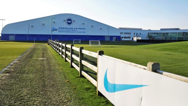 Brighton and Hove Albion FC's training ground complex at Lancing