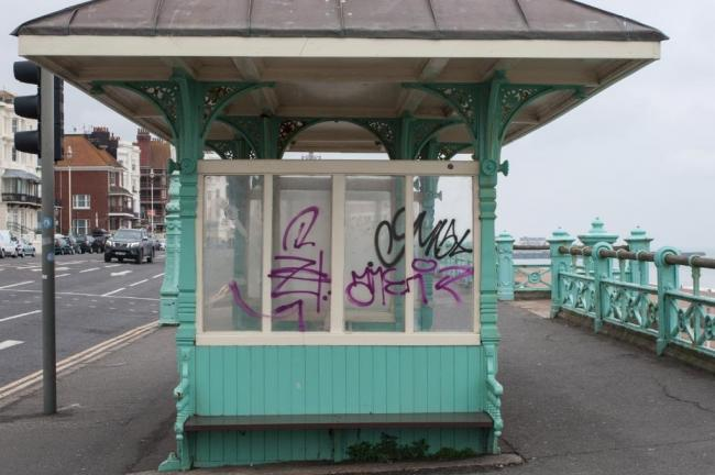 Graffiti on the seafront