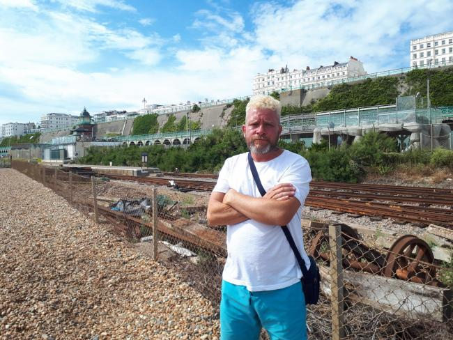 Denis Martin has reported his belongings stolen from Brighton beach