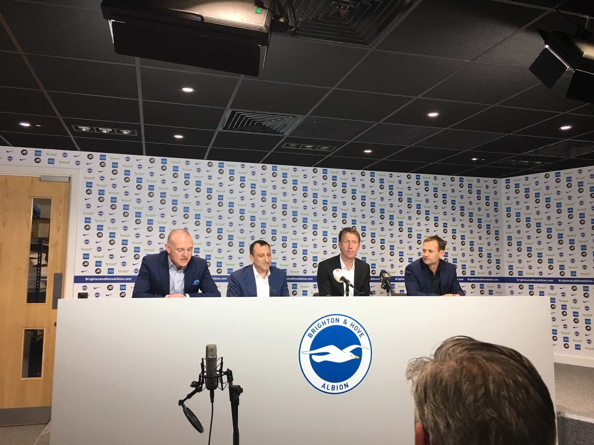 LIVE: Albion  unveil Graham Potter as new head coach