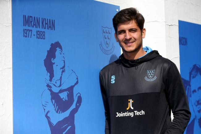 Mir Hamza led the Sussex attack
