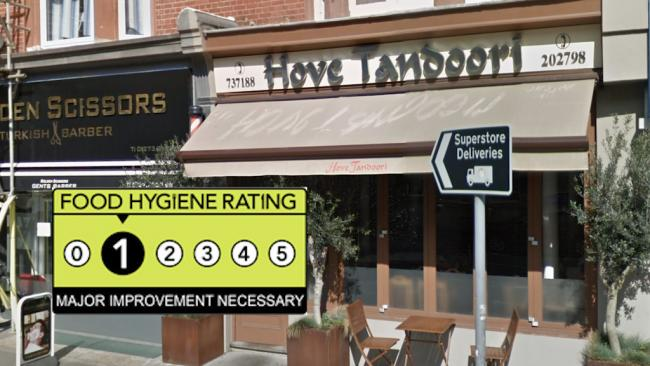 Hove Tandoori - Food Hygiene Rating 1 - Major Improvement Necessary