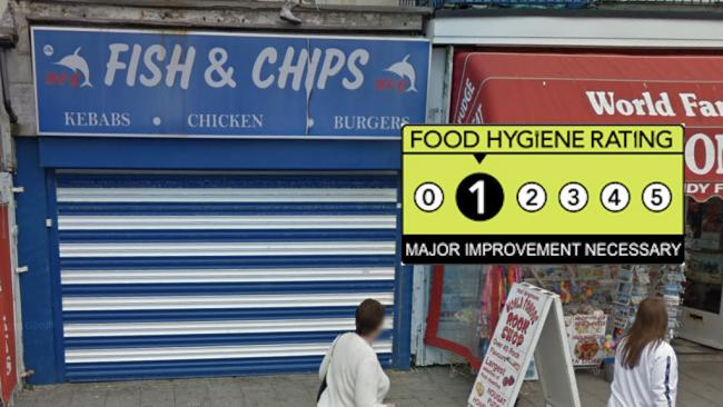 BFC Fish & Chips - Food Hygiene Rating 1 - Major Improvement Necessary