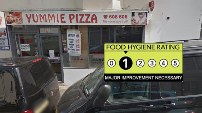 Yummie Grill And Pizza - Food Hygiene Rating 1 - Major Improvement Necessary