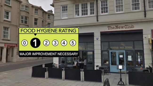 The New Club - Food Hygiene Rating 1 - Major Improvement Necessary