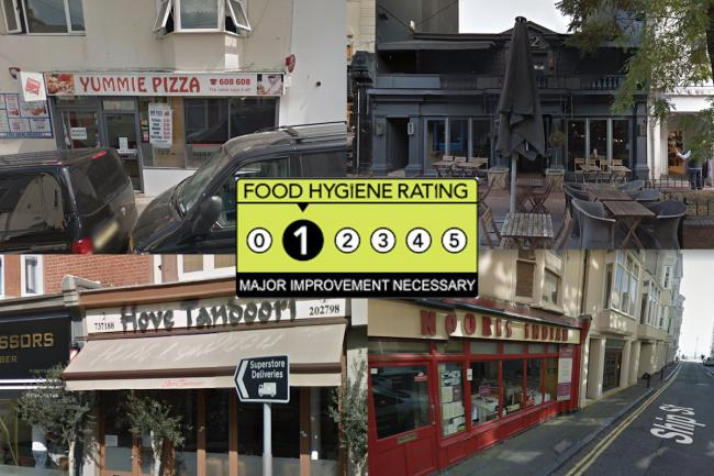 Food Venues With A One Hygiene Rating In Brighton And Hove