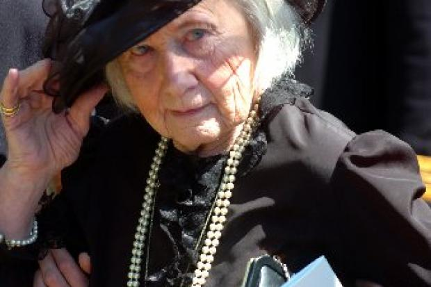 RAPPROCHEMENT: Betty Hankin at the funeral today