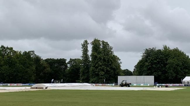 Rain disrupted play at a gloomy Arundel
