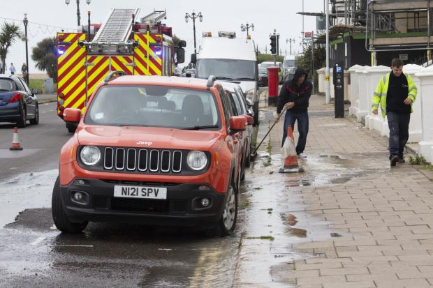 Water pipe bursts on A259, Marine Parade, Worthing | The Argus