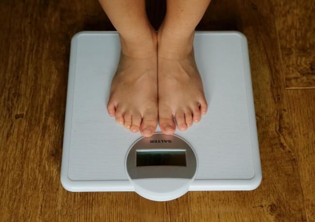 A child on the scales